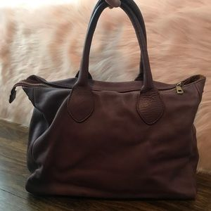 Neiman Marcus Purple Leather Hobo Bag